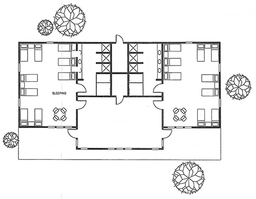 Proposed Floor Plan For A Cabin At Canyon