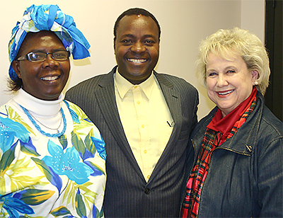 From left, medical professionals Mary and Stanley Imunya of Kenya tour the United Methodist Ministry Center in late 2009 with Prudy Gorrell of OKC-Church of the Servant. Funds from churches support the Kenyans' healthcare work through Maua Methodist Hospital, an Advance second-mile-giving project. In Oklahoma, the brand-new All-Star award program salutes churches that excel in missions, such as through the Advance. Karen Distefano of Bartlesville is the new Conference secretary of Global Missions, kririe@aol.com,  918-336-0351.