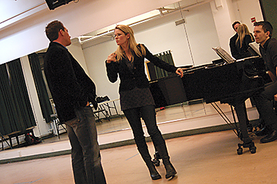 OCU alumna Kelli O'Hara teaches a class during a previous workshop.